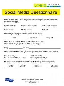 Social Media Questionnaire