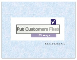 105 ways to put customers first - cover